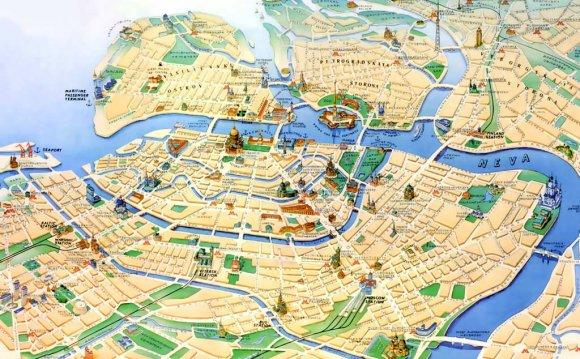 карта невского проспекта