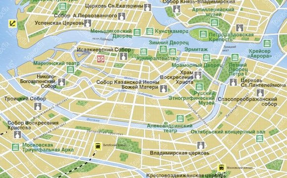 Карта-схема: Санкт-Петербург