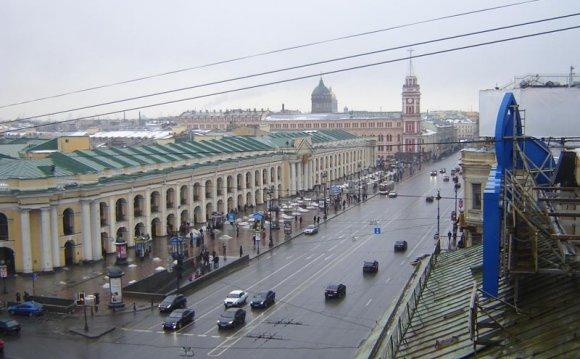 Панорама Невского проспекта с