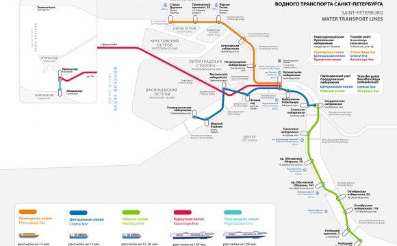 Схема маршрутов аквабусов